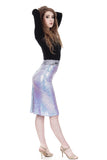 unicorn sequins ruched skirt - Poema Tango Clothes: handmade luxury clothing for Argentine tango