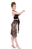 violet pelt ruched skirt - Poema Tango Clothes: handmade luxury clothing for Argentine tango