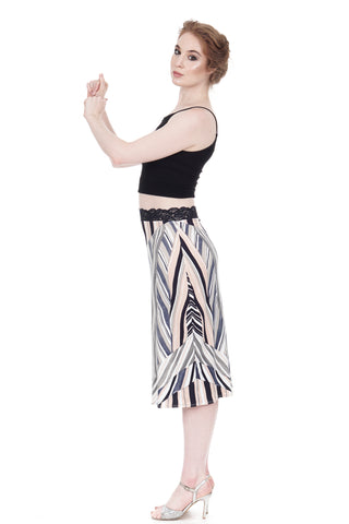 wandering chevron pencil skirt