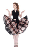 watercolor windowpane circle skirt - Poema Tango Clothes: handmade luxury clothing for Argentine tango