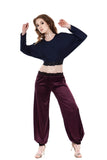 wine silk tango trousers - Poema Tango Clothes: handmade luxury clothing for Argentine tango