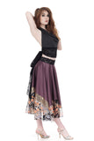 winking twilight silk satin skirt - Poema Tango Clothes: handmade luxury clothing for Argentine tango