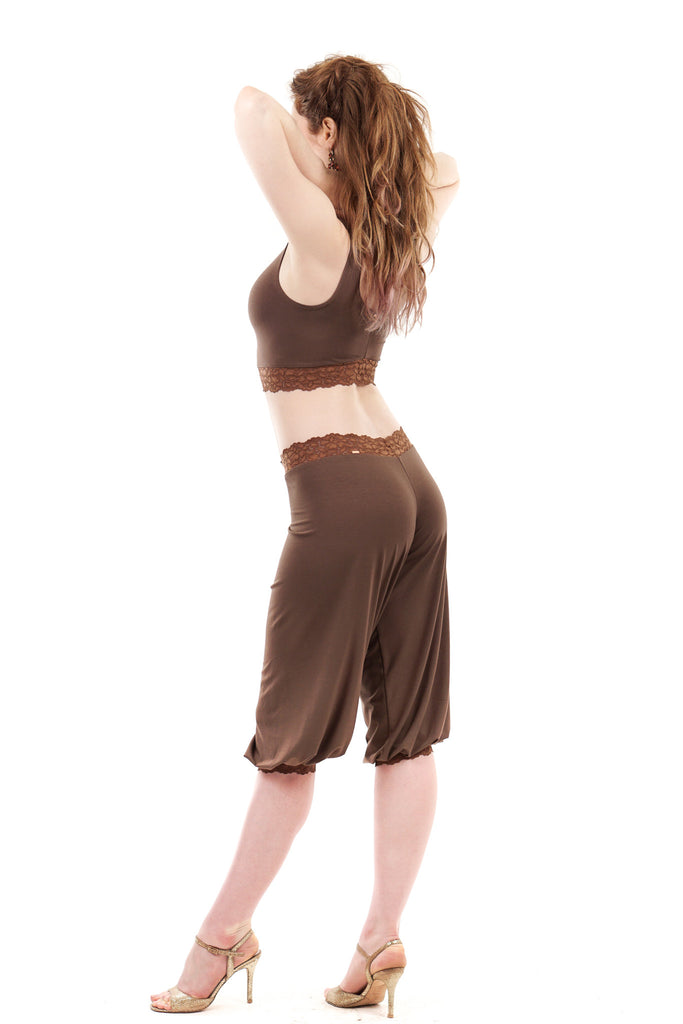 wood sage and ashes of roses tango trousers - Poema Tango Clothes: handmade luxury clothing for Argentine tango