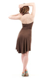 wood sage halter dress - Poema Tango Clothes: handmade luxury clothing for Argentine tango