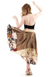 yellow gold skirt - Poema Tango Clothes: handmade luxury clothing for Argentine tango