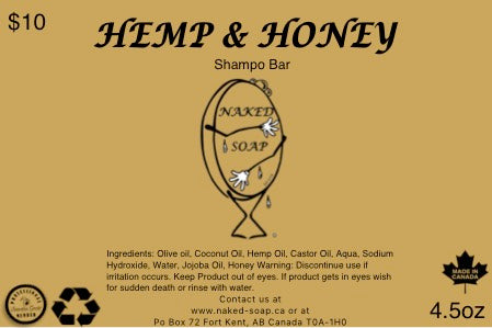 Hemp & Honey Shampoo Bar