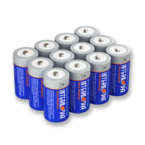 Internova Ultra Alkaline C Batteries, LR14 1.5V Cell High Performance, 12 Pack