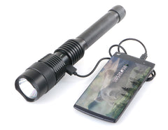 Sentinel 1300XL Professional Series Ultra Bright Rechargeable Tactical LED Flashlight with Powerbank