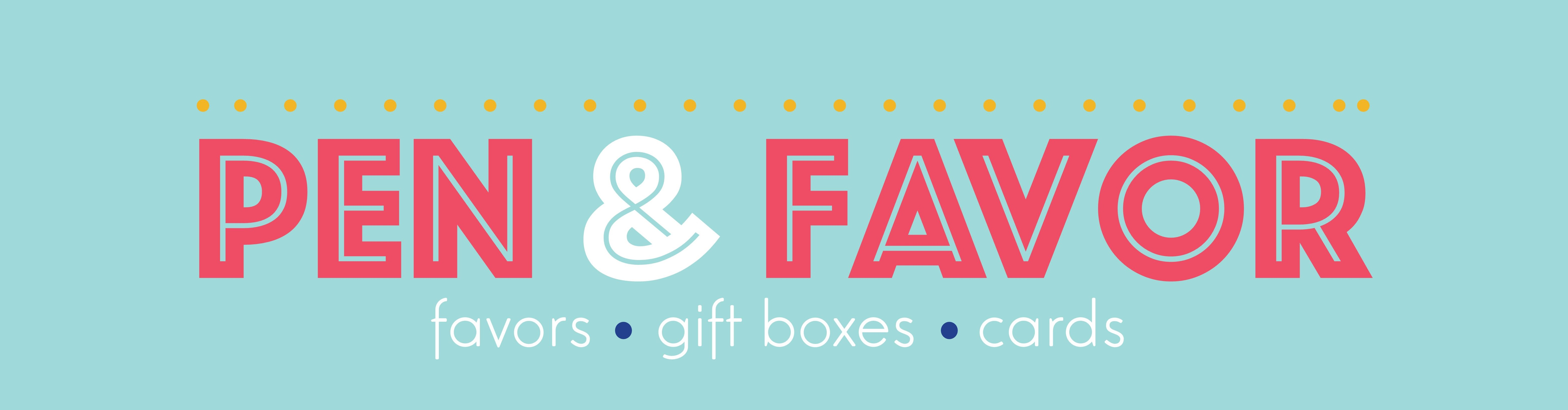 Pen & favor | Handmade wedding favors, boxes, bags and greeting ...