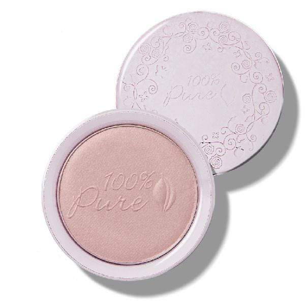 100 Percent Pure Fruit Pigmented Pink Gold Taffeta Luminizer - The Green Kiss