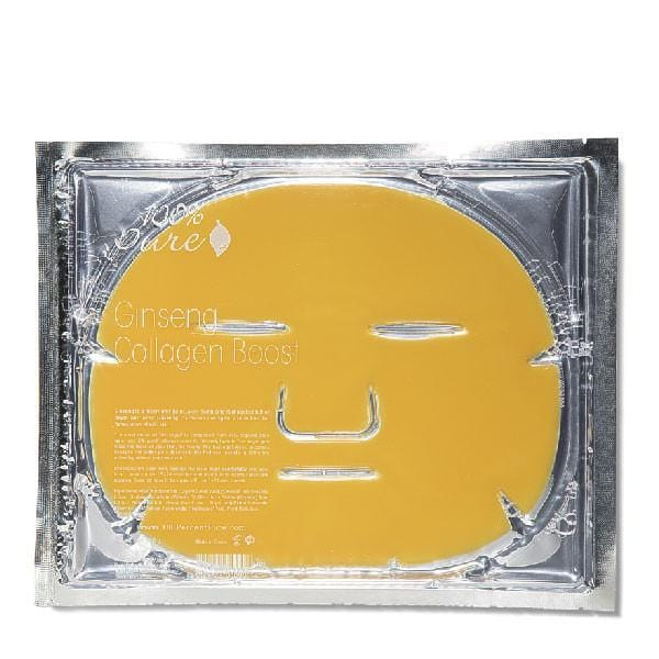 100 Percent Pure Ginseng Collagen Boost Mask Single - The Green Kiss