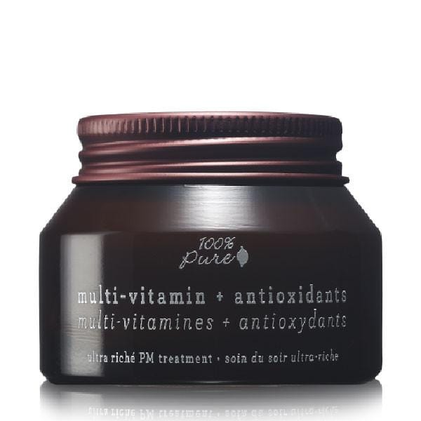 100 Percent Pure Multi-Vitamin + Antioxidants Ultra Riche PM Treatment - The Green Kiss