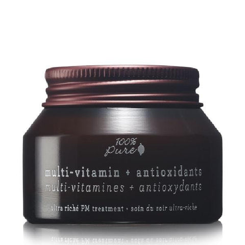 100 Percent Pure Multi-Vitamin + Antioxidants Ultra Riche PM Treatment