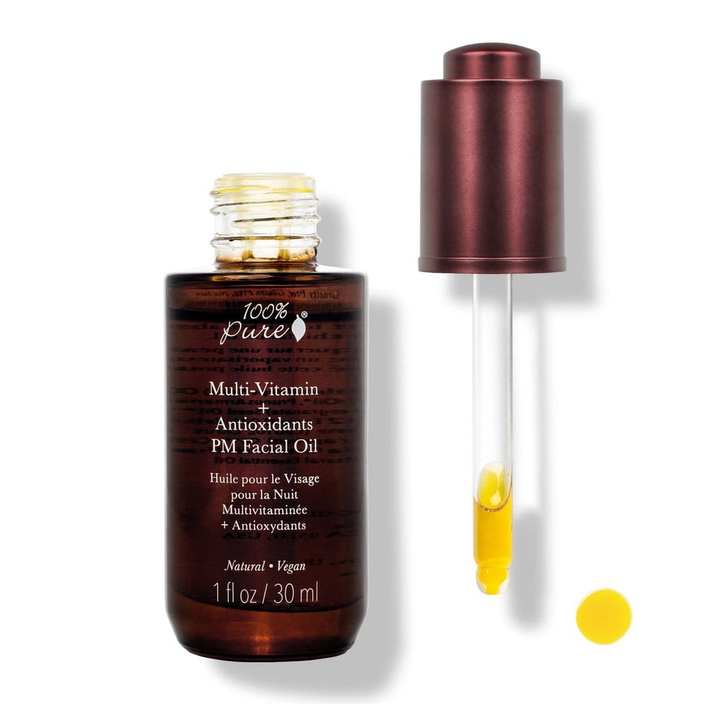 100 Percent Pure Multi-Vitamin + Antioxidants PM Facial Oil - The Green Kiss