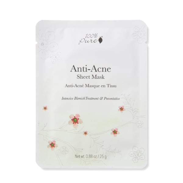 100 Percent Pure Sheet Mask - Anti Acne - The Green Kiss