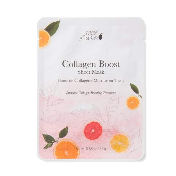 100 Percent Pure Sheet Mask - Collagen Boost - The Green Kiss