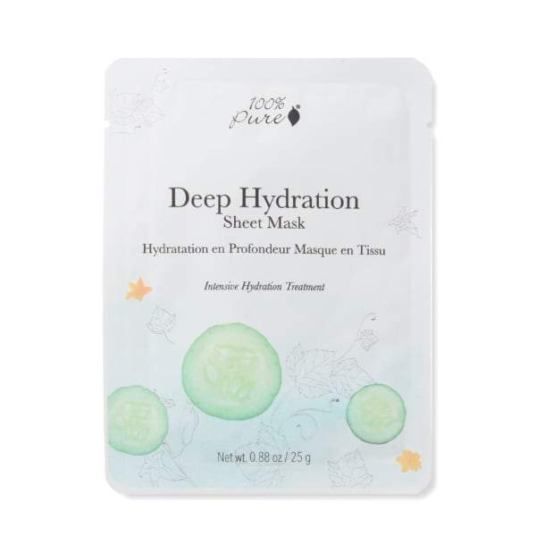 100 Percent Pure Sheet Mask - Deep Hydration - The Green Kiss