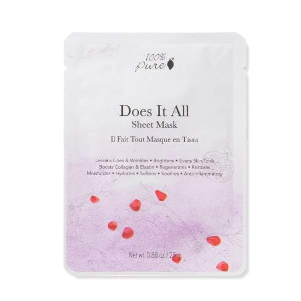 100 Percent Pure Sheet Mask - Does It All - The Green Kiss