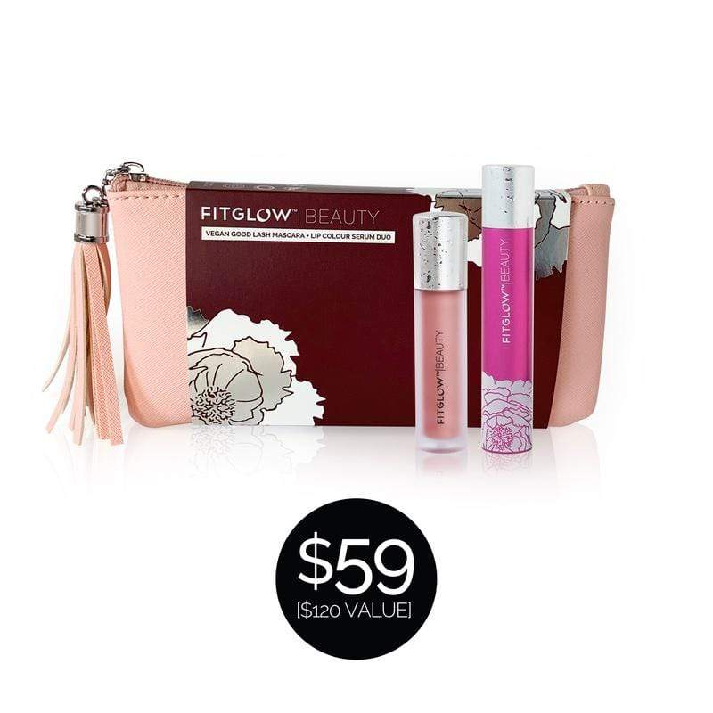 Fitglow Beauty *Limited Edition* Lip & Lash Duo ($120 Value) - The Green Kiss