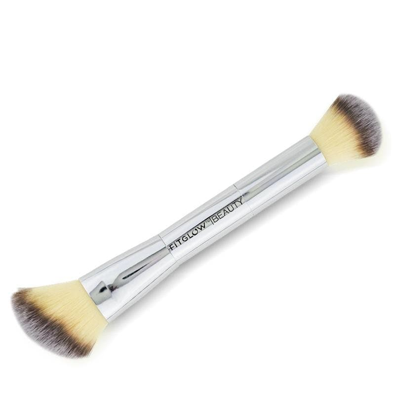 Fitglow Beauty Teddy Double Cheek Brush - The Green Kiss