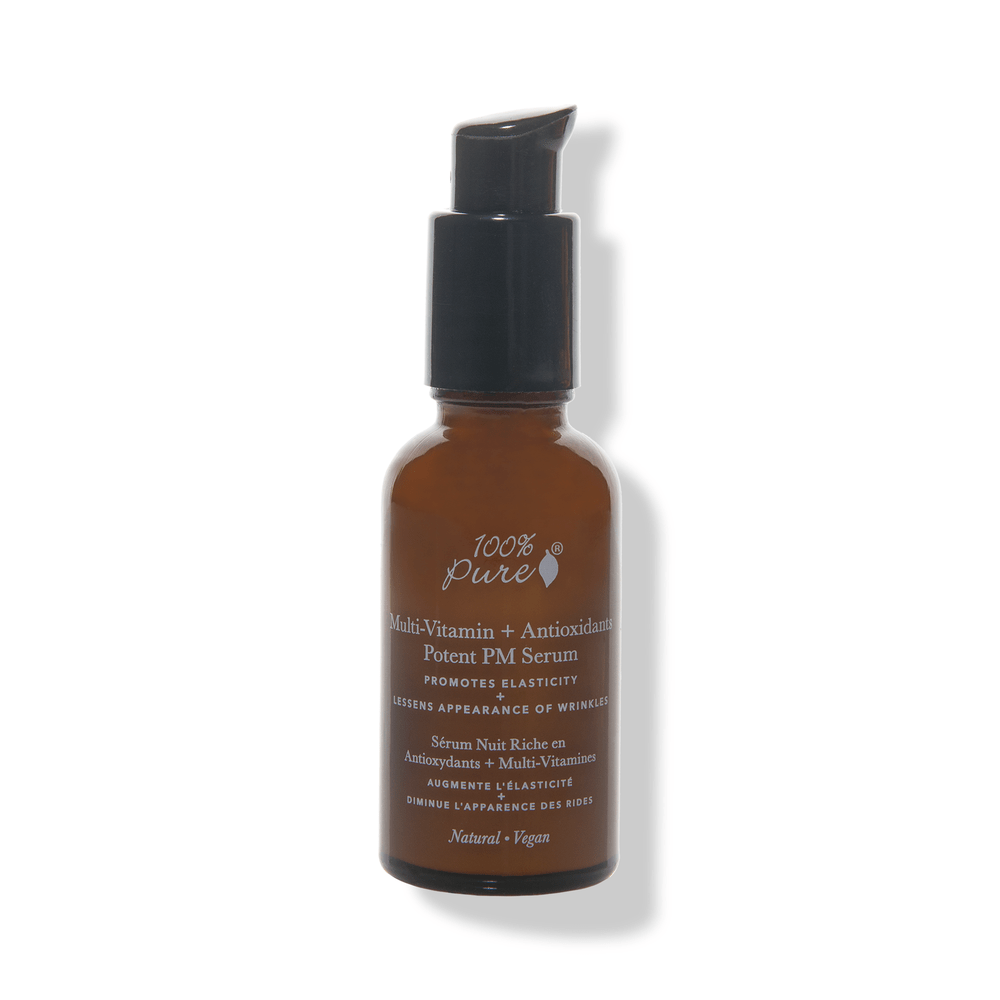100 Percent Pure Multi-Vitamin + Antioxidants Potent PM Serum