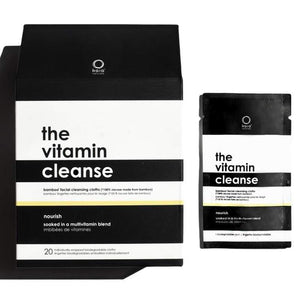 Kaia Naturals The Vitamin Cleanse Bamboo Facial Cleansing Cloths - 20 Singles - The Green Kiss