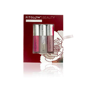 Fitglow Beauty Mini Lip Serum Trio - Essential Collection - Night/Bloom/Halo