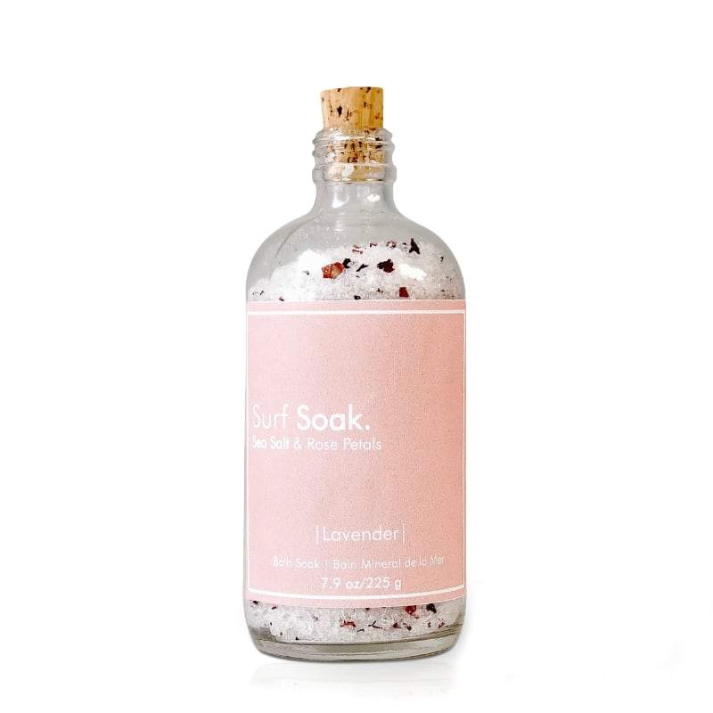 Surf Soak Sea Salt & Rose & Lavender 225g Bottle - The Green Kiss