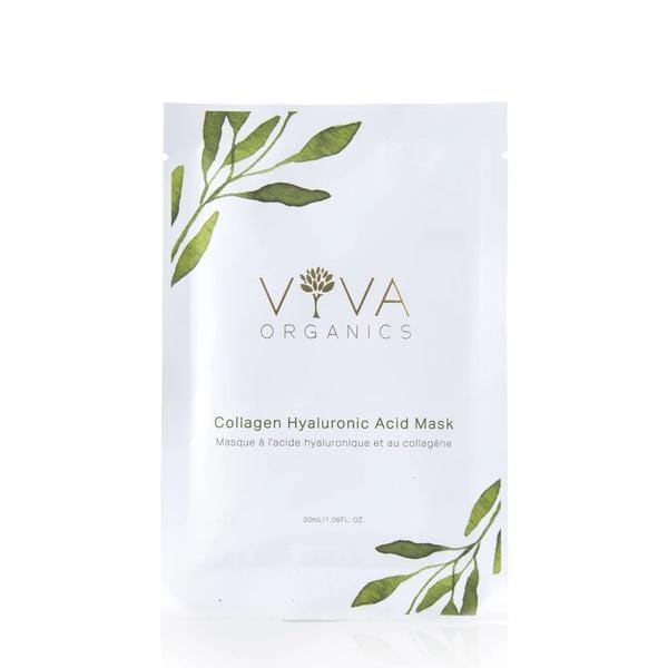 Viva Organics Collagen Hyaluronic Acid Sheet Mask - The Green Kiss