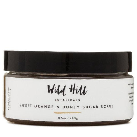 Wild Hill Botanicals Sweet Orange And Honey Sugar Scrub