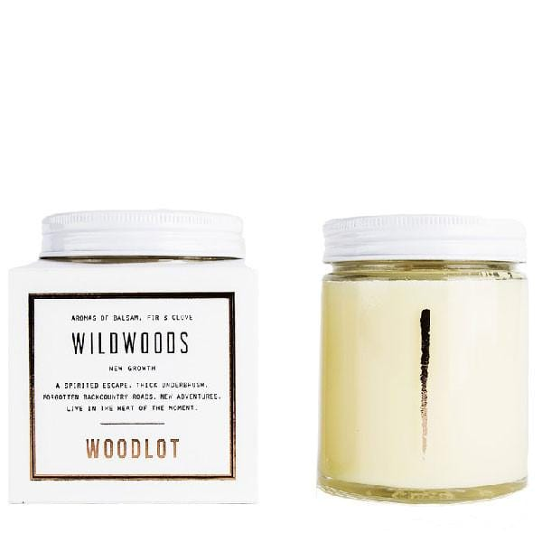 Woodlot 8 oz Coconut Wax Candle in Wildwoods - The Green Kiss