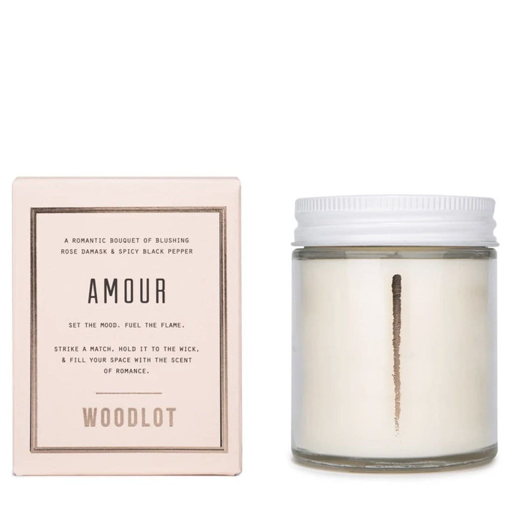 Woodlot 8 oz Coconut Wax Candle in Amour - The Green Kiss