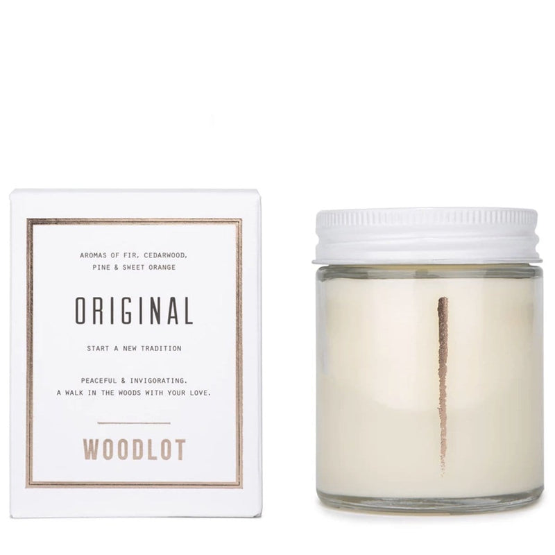 Woodlot 8 oz Coconut Wax Candle in Original - The Green Kiss