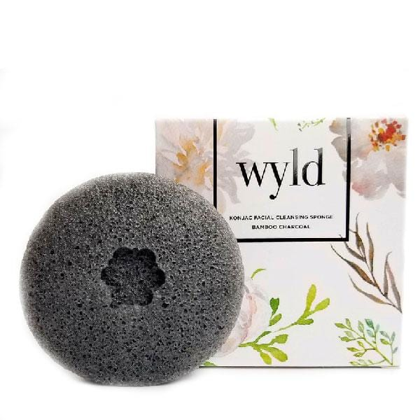 Wyld Konjac Sponge - Bamboo Charcoal - The Green Kiss