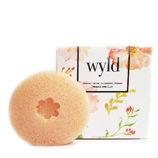 Wyld Konjac Sponge - French Pink Clay - The Green Kiss