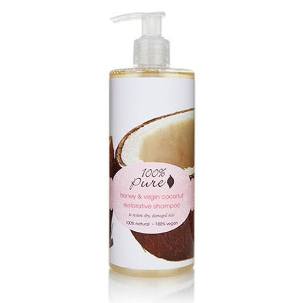 100 Percent Pure Shampoo 13 OZ Honey & Virgin Coconut - The Green Kiss