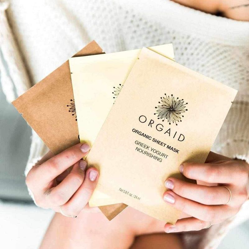 Orgaid Organic Sheet Mask Variety Pack Of 6