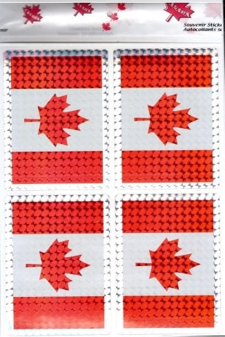 Canada 4 Pack Shiny Sticker