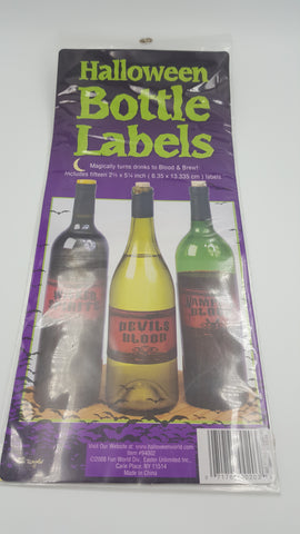 "Hallowe'en """" Wine Bottle Label-O Canada"