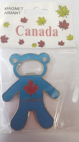 Bear Bottle Opener w/Magnet-O Canada