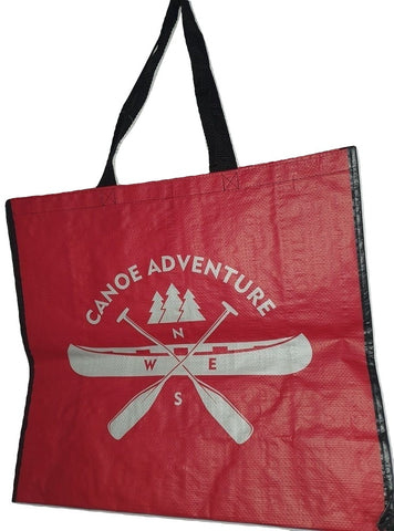 Canoe Adventure Red Tote Bag