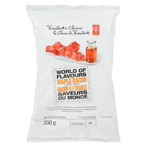 President's Choice/ PC Maple Bacon Chips - 200mg-O Canada