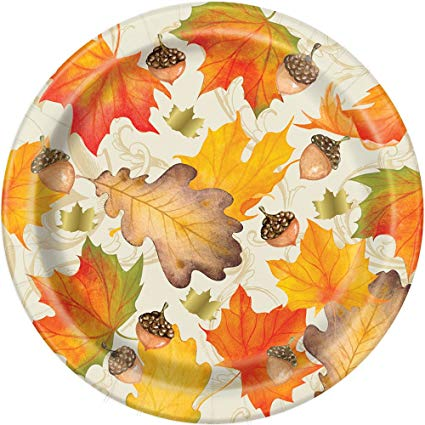 Thanksgiving Gold Fall Leaves Plate -6 3/4Inch-O Canada