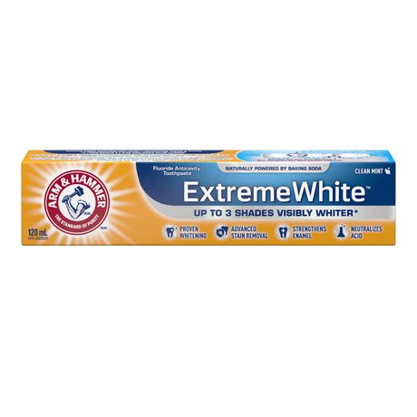 Arm & Hammer Extreme White Toothpaste 120ml-O Canada