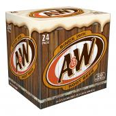A&W Root Beer 355mL Case of 24-O Canada