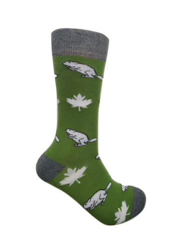 Maple Leaf & Beaver Crew Socks - Unisex
