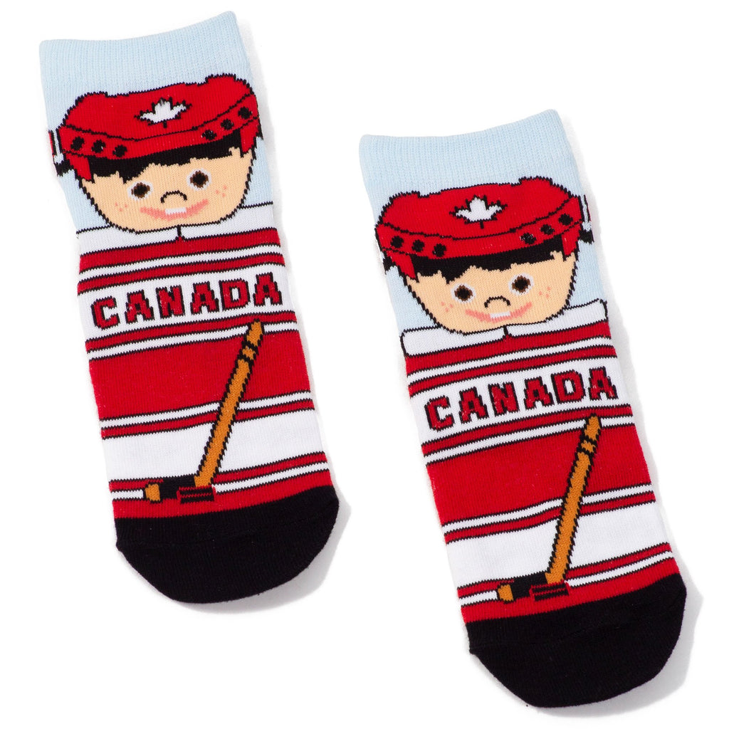 Childrens Canadian Hockey Player Socks - Unisex