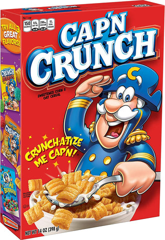 Quaker Cap'n Crunch -USA  - (Captain Crunch) Cereal 350g