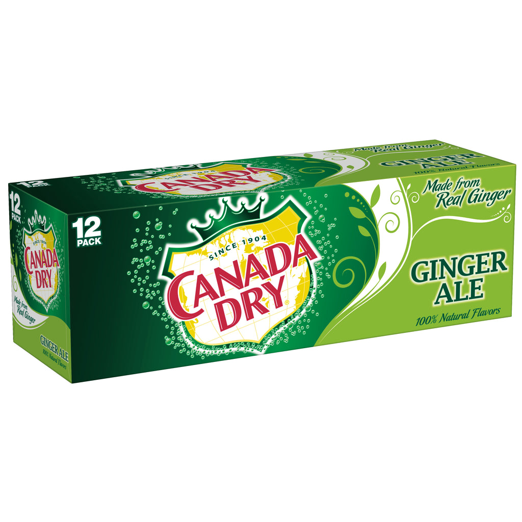 Canada Dry Ginger Ale 355ml Case of 12 cans-O Canada