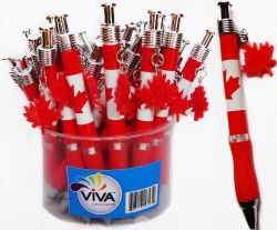 Canada Flag Pen with Maple Leaf Charm-O Canada